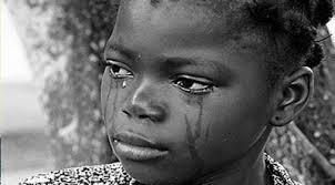 She cries